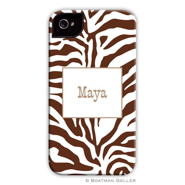 iPod & iPhone Cell Phone Case - Zebra Chocolate