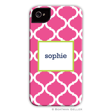 iPod & iPhone Cell Phone Case - Ann Tile Raspberry