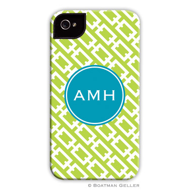 iPod & iPhone Cell Phone Case - Chain Link Lime