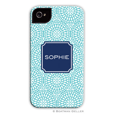 iPod & iPhone Cell Phone Case - Bursts Teal