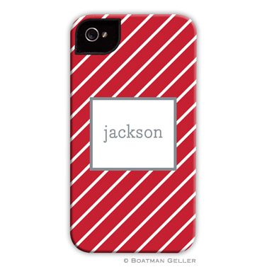 iPod & iPhone Cell Phone Case - Kent Stripe Cherry