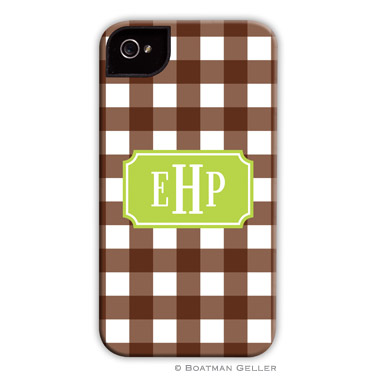 iPod & iPhone Cell Phone Case - Classic Check Chocolate
