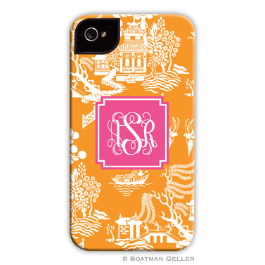 iPod & iPhone Cell Phone Case - Chinoiserie Tangerine