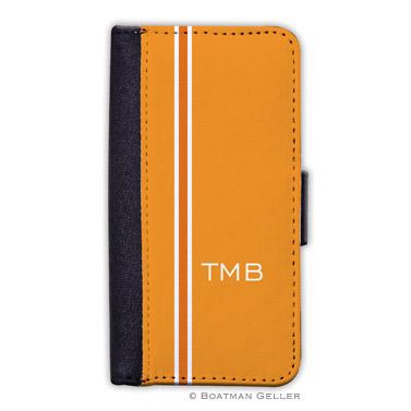iPod & iPhone Cell Phone Case - Racing Stripe Orange 1