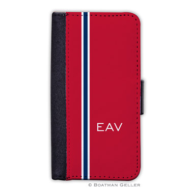 iPod & iPhone Cell Phone Case - Racing Stripe Red & Navy 1