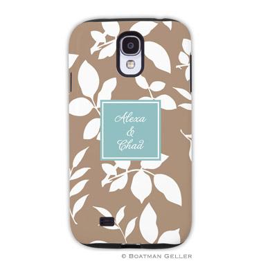 Samsung Galaxy & Samsung Note Case - Silo Leaves Mocha
