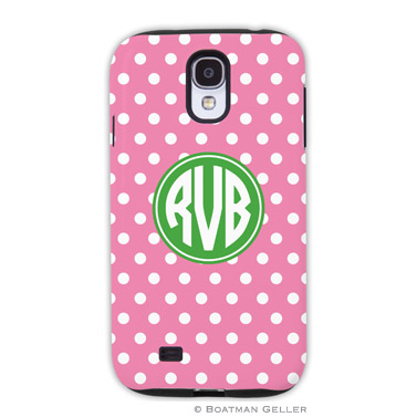 Samsung Galaxy & Samsung Note Case - Polka Dot Bubblegum by Boatman Geller, Discounted
