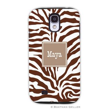 Samsung Galaxy & Samsung Note Case - Zebra Chocolate