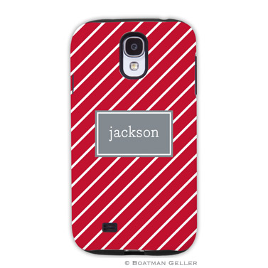 Samsung Galaxy & Samsung Note Case - Kent Stripe Cherry