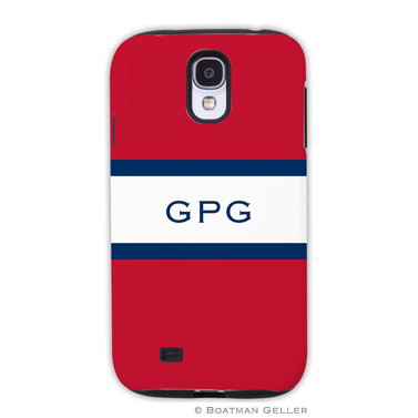 Samsung Galaxy & Samsung Note Case - Stripe Red & Navy