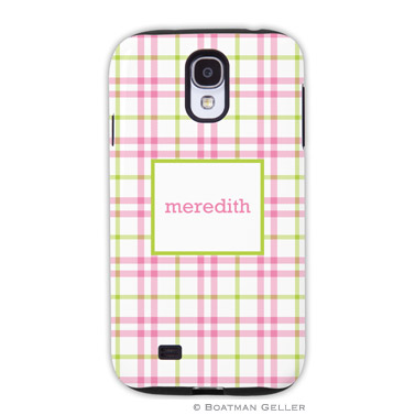 Samsung Galaxy & Samsung Note Case - Miller Check Pink & Green