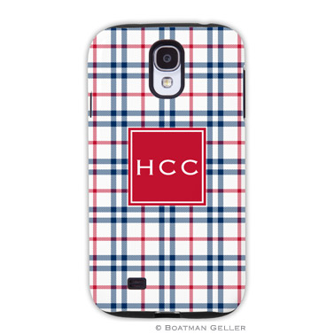 Samsung Galaxy & Samsung Note Case - Miller Check Navy & Red