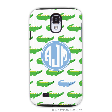 Samsung Galaxy & Samsung Note Case - Alligator Repeat Blue