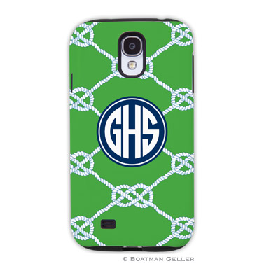 Samsung Galaxy & Samsung Note Case - Nautical Knot Kelly