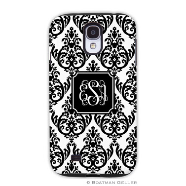 Samsung Galaxy & Samsung Note Case - Madison Damask White with Black