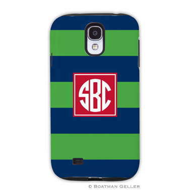 Samsung Galaxy & Samsung Note Case - Rugby Navy & Kelly