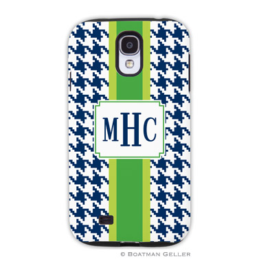 Samsung Galaxy & Samsung Note Case - Alex Houndstooth Navy