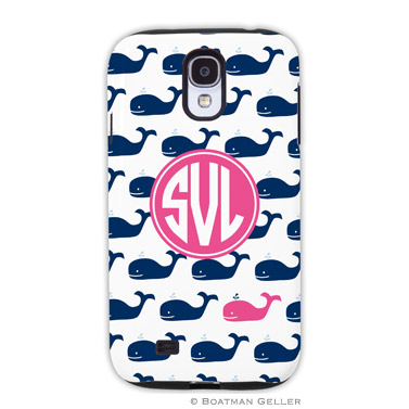 Samsung Galaxy & Samsung Note Case - Whale Repeat Navy