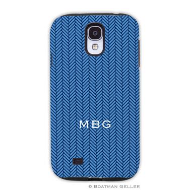 Samsung Galaxy & Samsung Note Case - Herringbone Blue