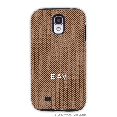 Samsung Galaxy & Samsung Note Case - Herringbone Brown