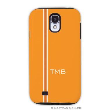 Samsung Galaxy & Samsung Note Case - Racing Stripe Orange