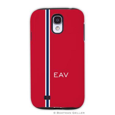 Samsung Galaxy & Samsung Note Case - Racing Stripe Red & Navy