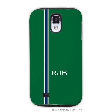 Samsung Galaxy & Samsung Note Case - Racing Stripe Hunter & Navy