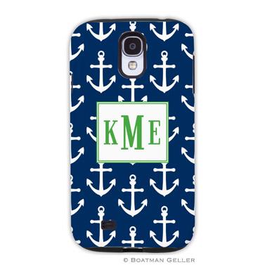 Samsung Galaxy & Samsung Note Case - Anchors White on Navy