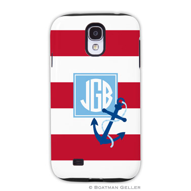 Samsung Galaxy & Samsung Note Case - Stripe Anchor Red