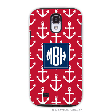 Samsung Galaxy & Samsung Note Case - Anchors White on Red