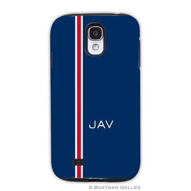 Samsung Galaxy & Samsung Note Case - Racing Stripe Navy & Red