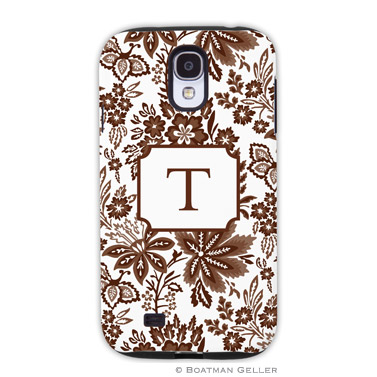 Samsung Galaxy & Samsung Note Case - Classic Floral Brown