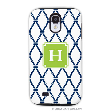 Samsung Galaxy & Samsung Note Case - Bamboo Navy & Green