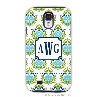 Samsung Galaxy & Samsung Note Case - Pineapple Repeat Teal
