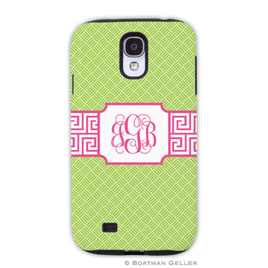 Samsung Galaxy & Samsung Note Case - Greek Key Band Pink