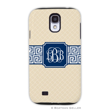 Samsung Galaxy & Samsung Note Case - Greek Key Band Navy