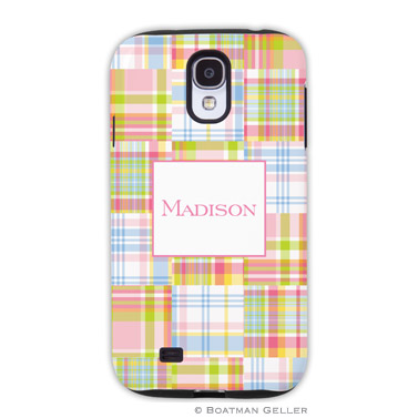 Samsung Galaxy & Samsung Note Case - Madras Patch Pink