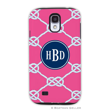 Samsung Galaxy & Samsung Note Case - Nautical Knot Raspberry