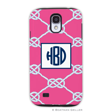 Samsung Galaxy & Samsung Note Case - Nautical Knot Raspberry by Boatman Geller, Discounted