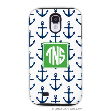 Samsung Galaxy & Samsung Note Case - Anchors Navy by Boatman Geller, Discounted