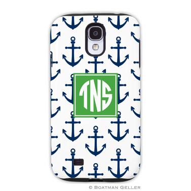 Samsung Galaxy & Samsung Note Case - Anchors Navy