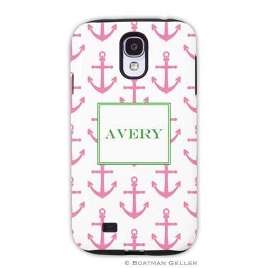 Samsung Galaxy & Samsung Note Case - Anchors Pink by Boatman Geller, Discounted