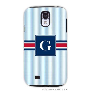 Samsung Galaxy & Samsung Note Case - Seersucker Band Red & Navy