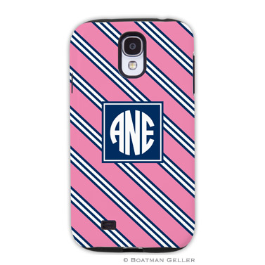 Samsung Galaxy & Samsung Note Case - Repp Tie Pink & Navy