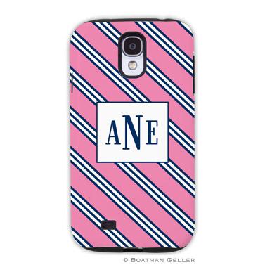 Samsung Galaxy & Samsung Note Case - Repp Tie Pink & Navy by Boatman Geller, Discounted