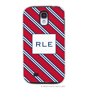 Samsung Galaxy & Samsung Note Case - Repp Tie Red & Navy by Boatman Geller, Discounted