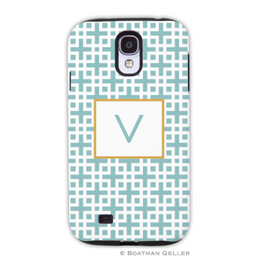 Samsung Galaxy & Samsung Note Case - Lattice Slate by Boatman Geller, Discounted