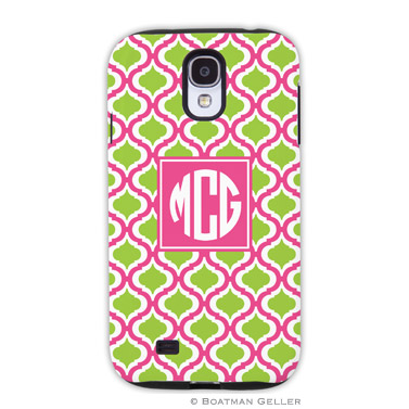 Samsung Galaxy & Samsung Note Case - Kate Raspberry & Lime by Boatman Geller, Discounted