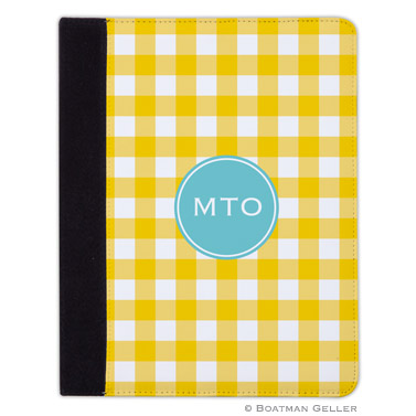 iPad, iPad Mini, iPad Air Cases & Cover - Classic Check Sunflower
