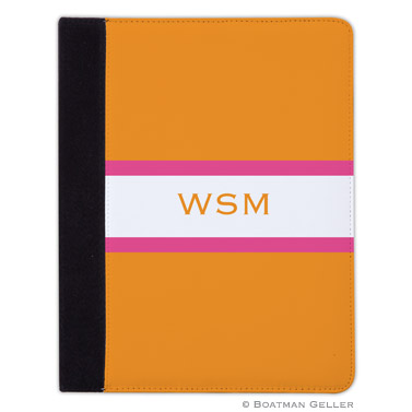 iPad, iPad Mini, iPad Air Cases & Cover - Stripe Tangerine & Raspberry